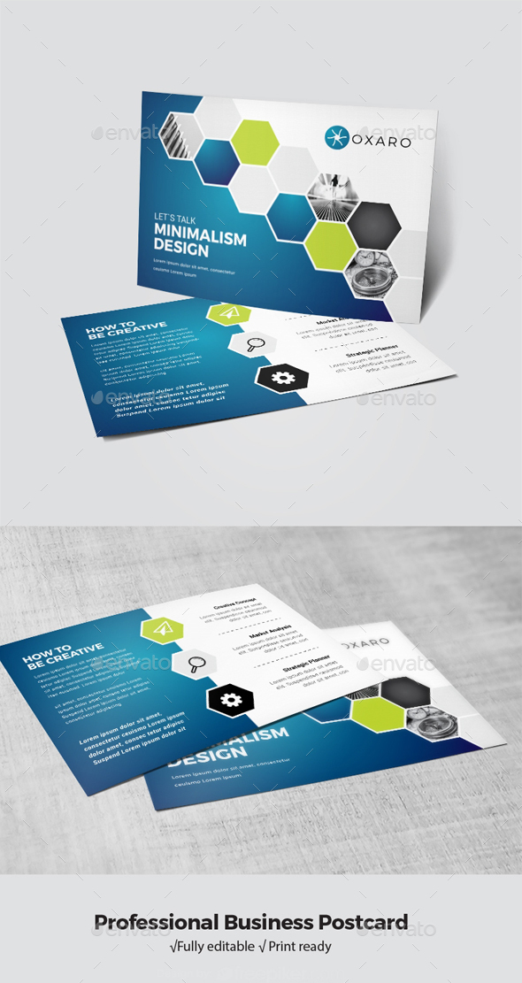 Professional Business Postcard - Cards & Invites Print Templates