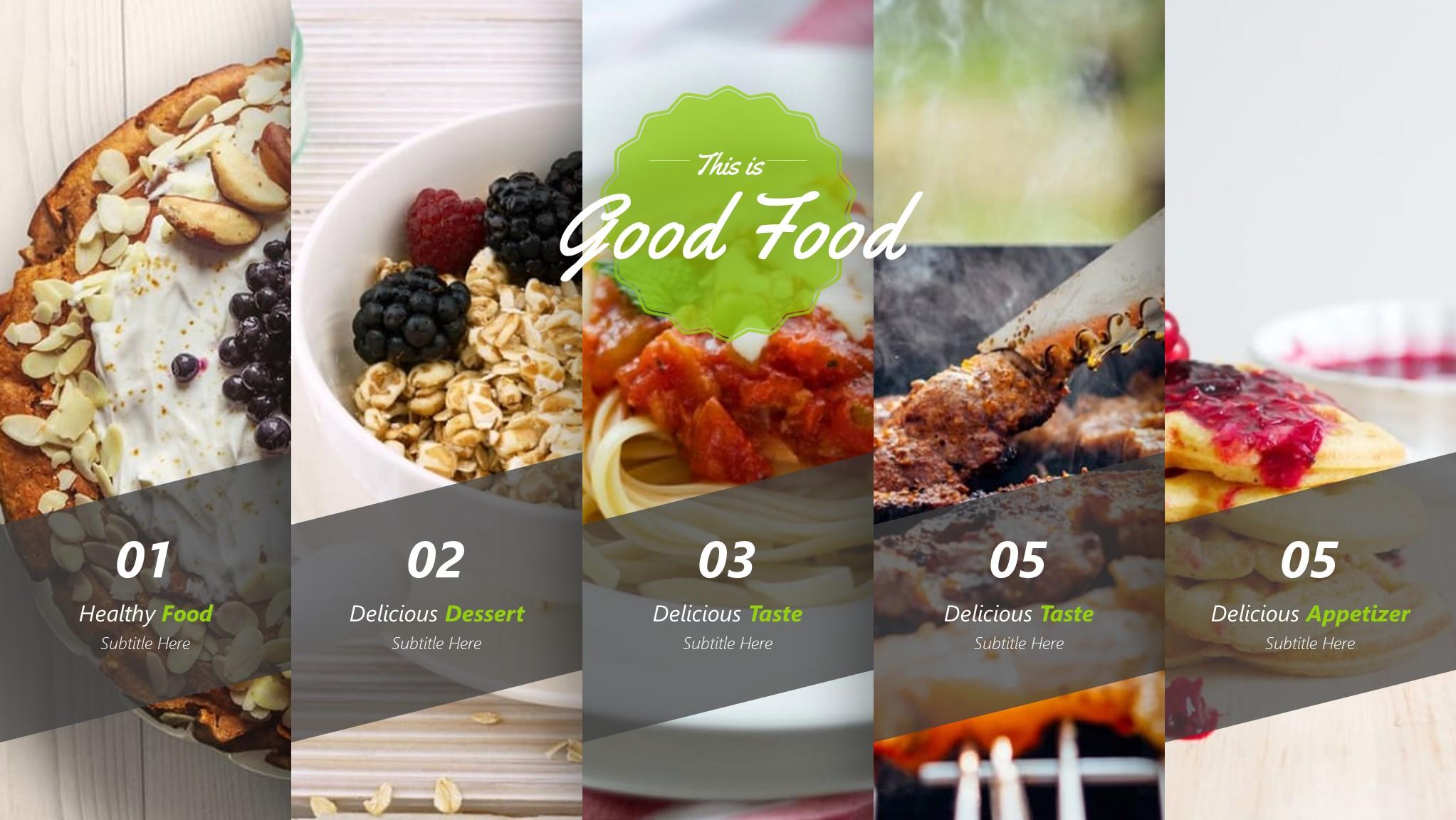 good food presentation template by brandearth graphicriver