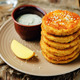 Mashed Potato Cheese Pancakes with Greek Yogurt Dill Sauce - PhotoDune Item for Sale