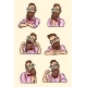 Collection of Different Emotions in Styled Beard - GraphicRiver Item for Sale