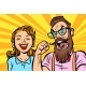 Couple Man and Woman Anger and Laughter - GraphicRiver Item for Sale