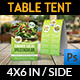 Salad Restaurant Table Tent Template - GraphicRiver Item for Sale