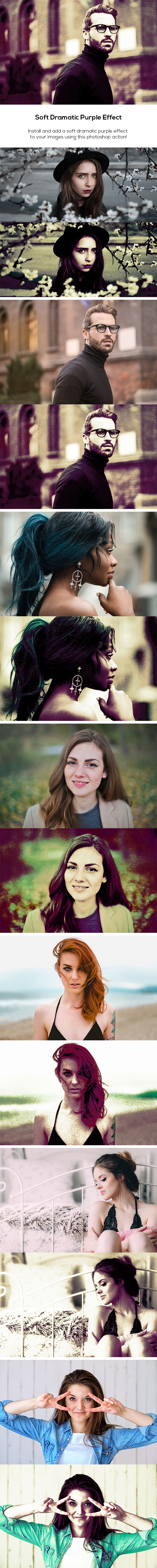 Soft Dramatic Purple Effect - Photo Effects Actions