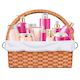 Vector Basket with Skin Grooming Products