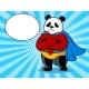 Panda Superhero Pop Art Vector Illustration - GraphicRiver Item for Sale