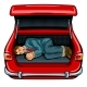 Kidnapped Man in the Car Trunk Pop Art Vector - GraphicRiver Item for Sale