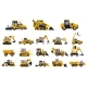 Different Types of Construction Trucks Set - GraphicRiver Item for Sale