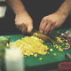 Chef hands cutting fresh and delicious vegetables - PhotoDune Item for Sale