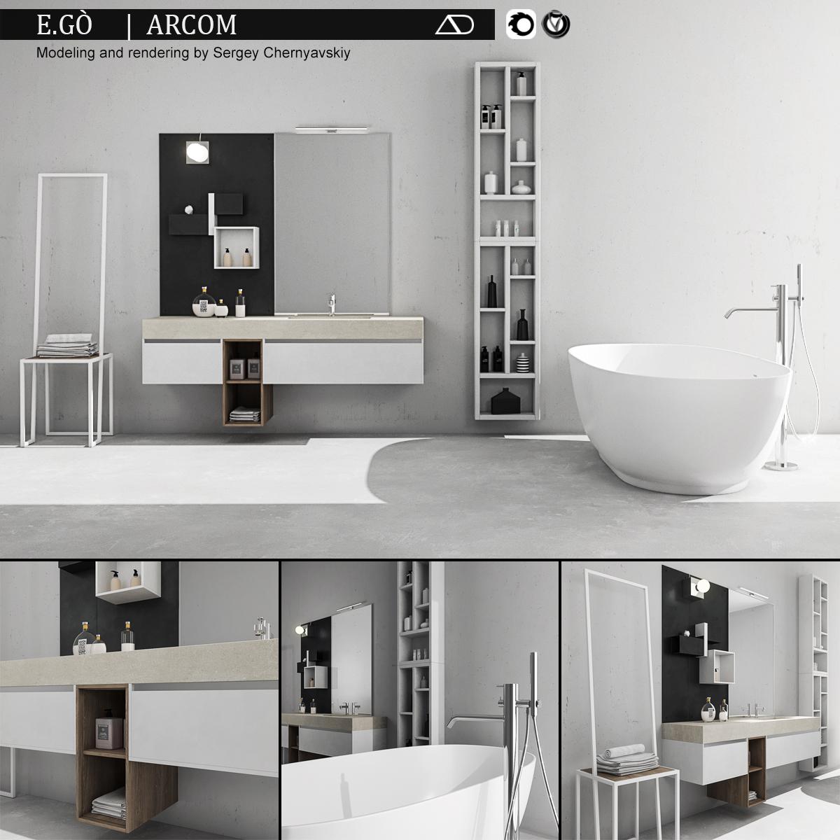 Bathroom Furniture Set Arcom Ego
