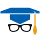 Student Glasses Mortarboard Logo