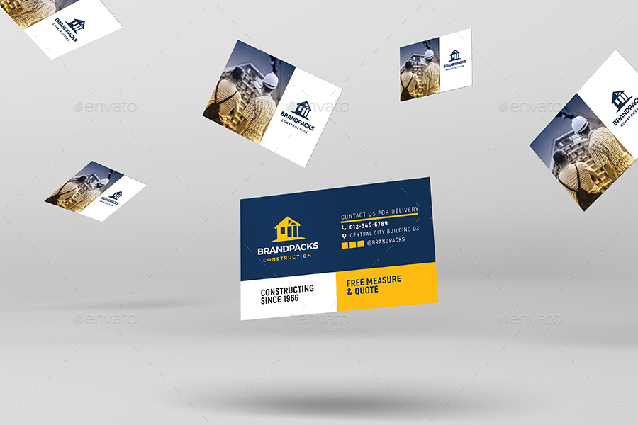 Construction business card template by brandpacks graphicriver previewsconstruction company business card template 2g colourmoves