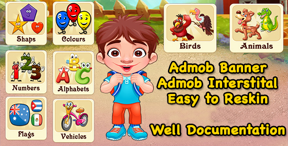 Pre School Learning Game + Best Education Game + Admob - CodeCanyon Item for Sale