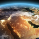 4K Earth Night to Day Sunrise Middle East - VideoHive Item for Sale