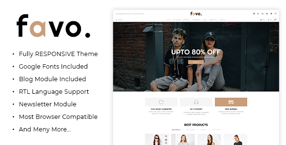 Favo - Multipurpose Responsive Fashion Opencart 3.x Theme - Fashion OpenCart