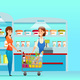 Customer Queue Shopping - GraphicRiver Item for Sale