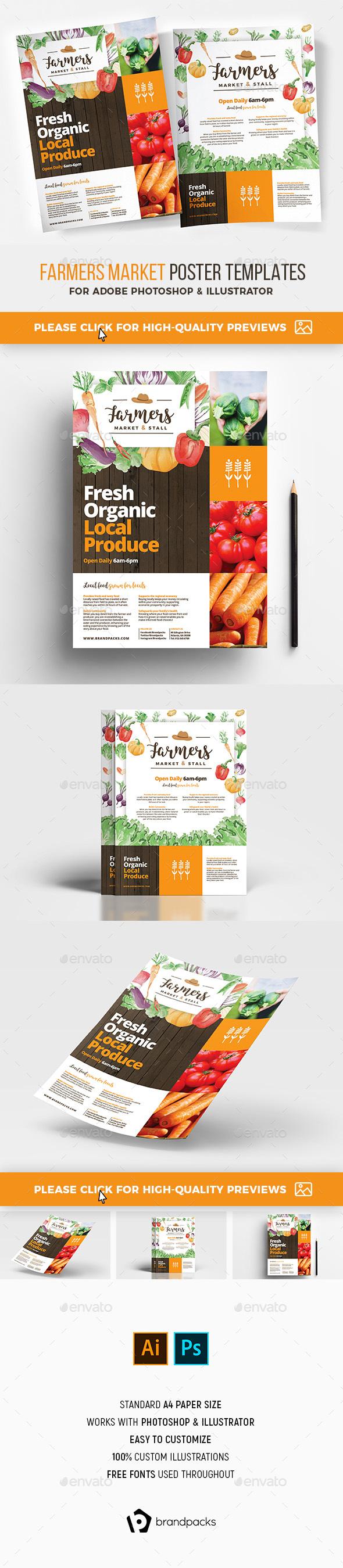 Farmers Market Poster Templates - Restaurant Flyers