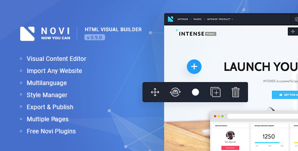 Novi - HTML Page Builder & Visual Content Editor - CodeCanyon Item for Sale