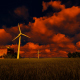 Windmills At Sunset - VideoHive Item for Sale