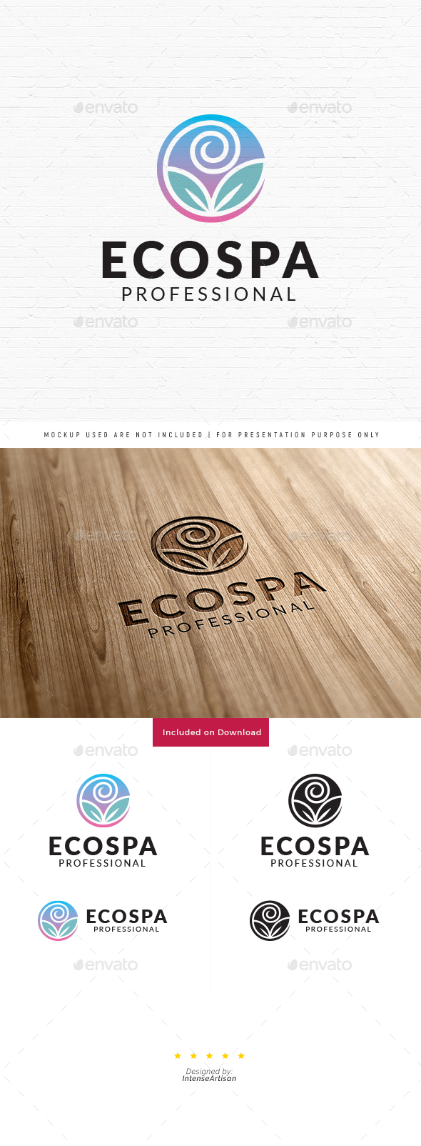 Eco Spa Logo - Nature Logo Templates