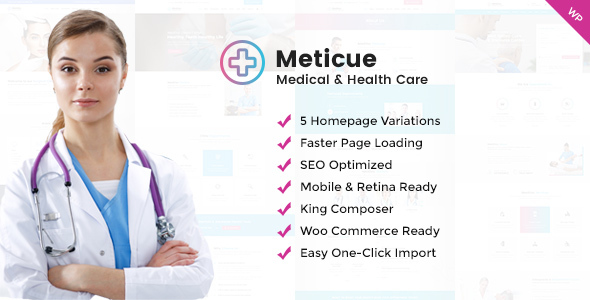 Image of Meticue: Health and Medical Center WordPress Theme