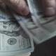 Business Finance Market. Man Holding American Dollars in Hands, Recounts Money, Currency, Dollar - VideoHive Item for Sale