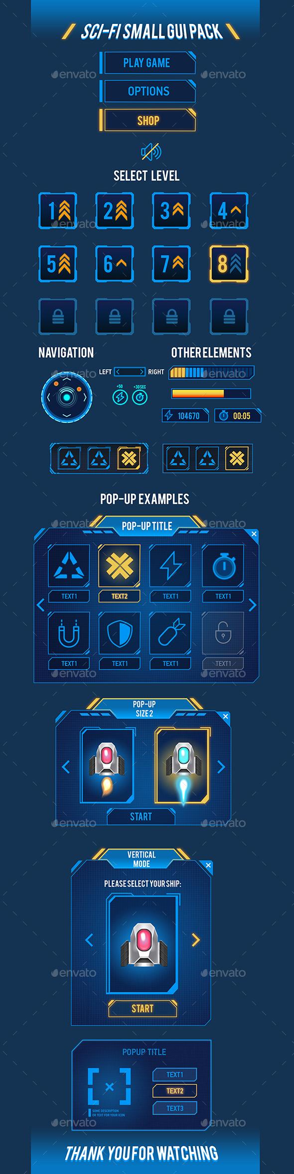 Sci-Fi Small GUI Pack