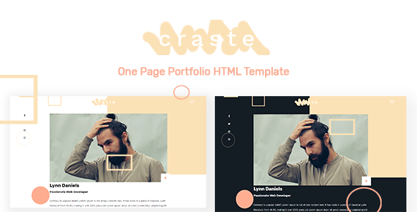 Craste - One Page Portfolio HTML Template