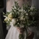 Bridal Bouquet. The Bride's . Beautiful of White Flowers and Greenery, Decorated with Silk Ribbon - VideoHive Item for Sale