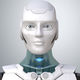Robot's head in face - PhotoDune Item for Sale