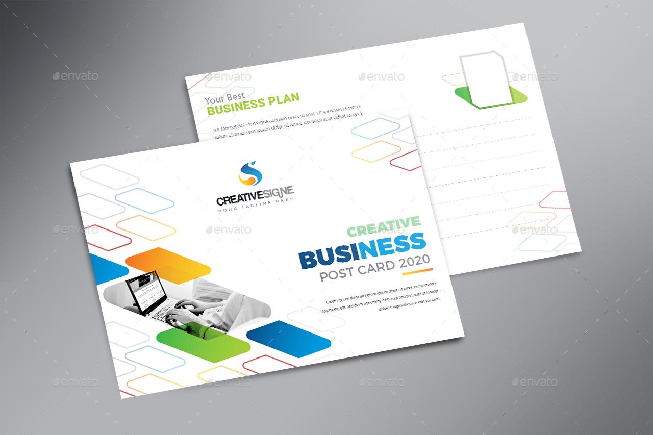 Business Postcard by creativesigne | GraphicRiver
