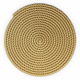 A thick mat of jute rope
