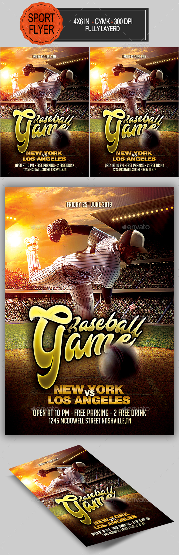 Baseball Flyer by seasonOFTHEflowers | GraphicRiver