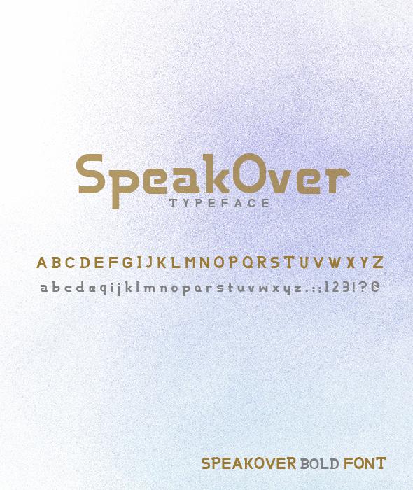 SpeakOver Bold Font
