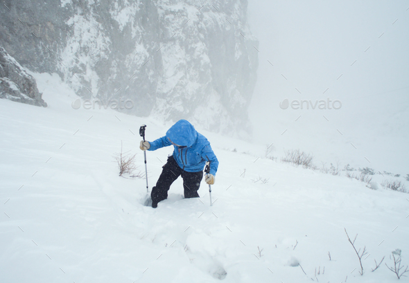 winter hiker - Stock Photo - Images