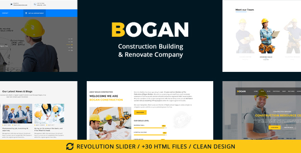Bogan - Construction Building & Renovate Company Free Download | Nulled