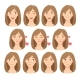 Emotions of Womans Face Set - GraphicRiver Item for Sale
