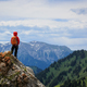 Hiker stand on the top of mountain - PhotoDune Item for Sale