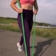Fitness Woman Working out with Resistance Band - VideoHive Item for Sale