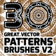 30 Grat Vector Patterns Brushes V2 - GraphicRiver Item for Sale