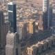 Wide Road Between High Modern Buildings in Dubai City - VideoHive Item for Sale