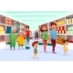 People Family Shopping in Supermarket Vector - GraphicRiver Item for Sale
