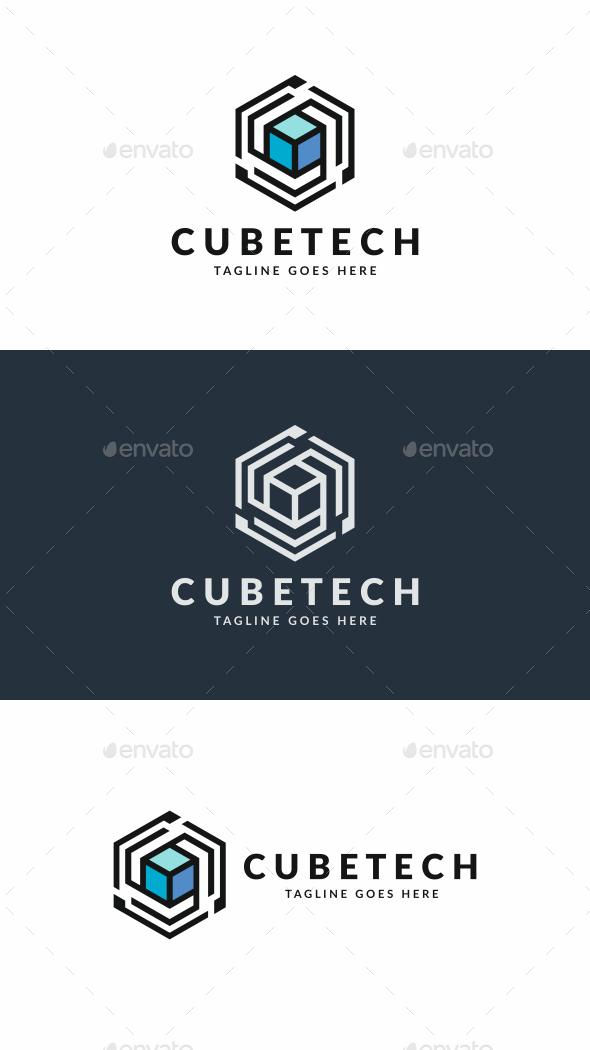 Tech Cube - Abstract Logo Templates