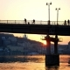 Bridge Walk People Sunset - VideoHive Item for Sale