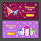 Welcome Party Template Card Set. Vector - GraphicRiver Item for Sale