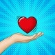 Hand Is Holding A Big Red Heart. - GraphicRiver Item for Sale
