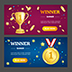 Winner Banner Set. Vector - GraphicRiver Item for Sale
