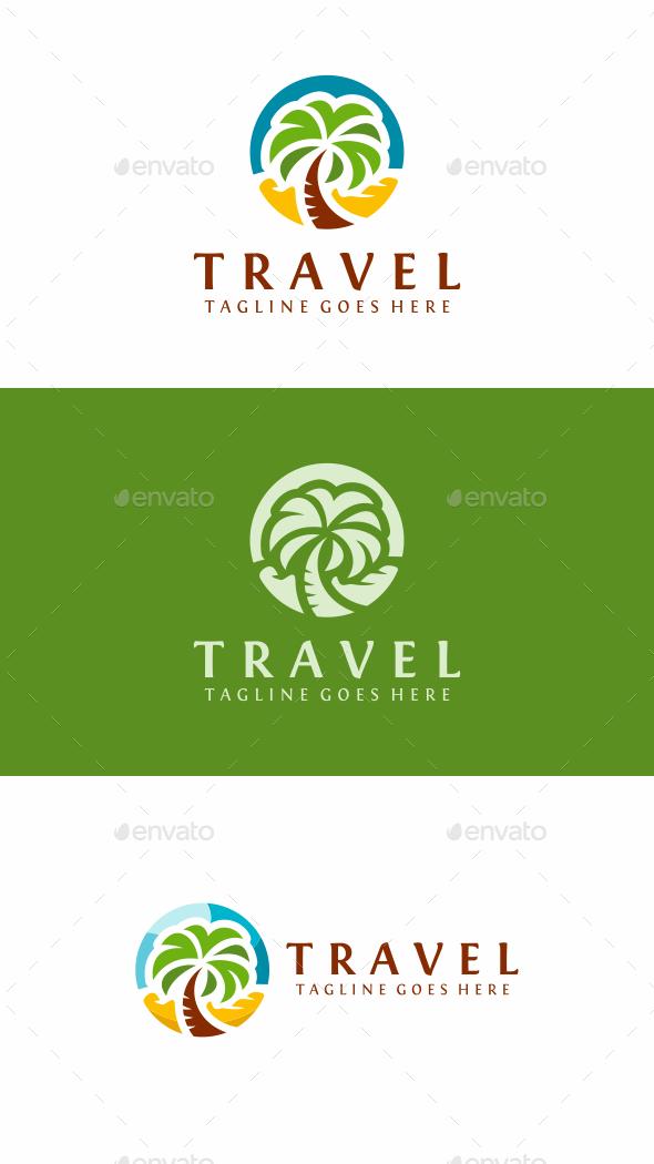 Palm Travel - Nature Logo Templates