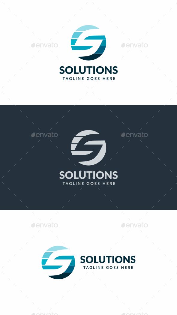 Solutions S Letter Logo - Letters Logo Templates