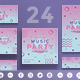 Pink Music Party Social Media Pack - GraphicRiver Item for Sale