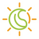 Eco Leaf Sun Logo